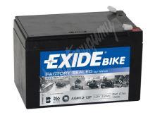 Motobaterie EXIDE 12V 12Ah 150A AGM12-12F