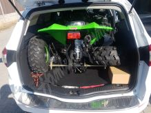Dětská čtyřtaktní čtyřkolka ATV Street Hummer DELUX 125ccm zelená 3 rych. poloaut. 8