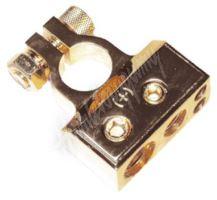 g4-30 Zlacená svorka (+) pólu baterie (4 in) 1x30, 1x20, 2x8 mm2