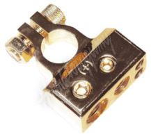 g4-30 Zlacená svorka (+) pólu baterie (4 in) 1x50, 1x20, 2x10 mm2