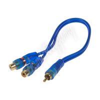 xs-212f RCA Y audio kabel BLUE BASIC line, 2xsamice, 1xsamec