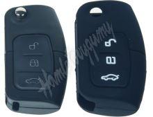 481FO102bla Silikonový obal pro klíč Ford 3-tlačítkový, černý