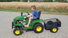 Dětský čtyřtaktní zahradní traktor s přívěsem 110ccm zeleny