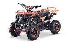 Dětská dvoutaktní čtyřkolka ATV MiniHummer Deluxe 49ccm E-start oranžová