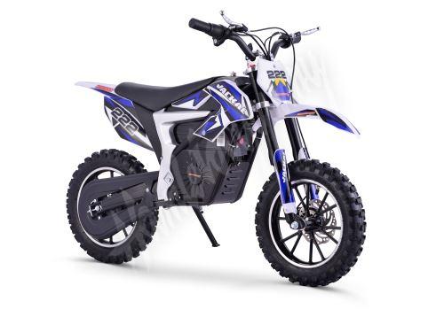 Elektrická motorka Minicross motors Jackal 500W 36V Baterie Lithium modrá