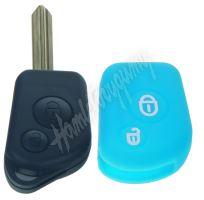 481CT103blu Silikonový obal pro klíč Citroën 2-tlačítkový, modrý
