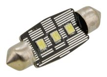 Žárovka 3 LED SMD 12V  suf.11X38 SV8.5 NEW-CAN-BUS bílá 2ks