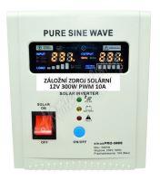 Záložní zdroj 12V 300W / Solární regulátor PWM SinusPRO - 500S