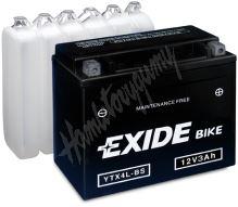 Motobaterie EXIDE BIKE Maintenance Free YTX14AH-BS (12V, 12Ah, 210A)