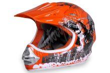 Dětská cross helma Xtreme -oranžová