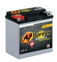 Motobaterie Banner BIKE BULL AGM PRO 51401, ETX 14, 12V 12Ah 220A = YTX14-BS