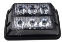 kf003d PREDATOR dual 6x1W LED, 12-24V, oranžový, ECE R65