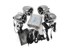 rsm104ch 4.1CH zvukový systém na motocykl, skútr, ATV, loď s FM, USB, AUX, BT, chrom