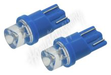Žárovka 1LED 12V  T10  modrá  2ks