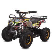 Dětská elektro čtyřkolka ATV Torino 1000W 48V Graffiti Žlutá