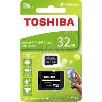 8032gCL10To Paměťová karta TOSHIBA micro SDHC 32GB včetně adaptéru
