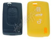 481PG104yel Silikonový obal pro klíč Peugeot, Citroën, 3-tlačítkový, žlutý