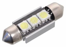 Žárovka 3 SMD LED 12V suf. SV8.5 38mm s rezistorem CAN-BUS ready bílá