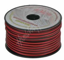31210 Kabel 2x1 mm, černočervený, 50 m bal