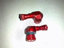 Ventilek alu bezdušový zahnutý moto Červený 8,3mm