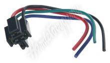 46024 Relé patice s kabely černá, 4-vývody