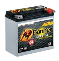 Motobaterie Banner BIKE BULL AGM PRO 52001, ETX 20L, 12V 18Ah 310A = YTX20L