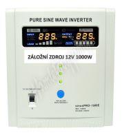 Záložní zdroj 12V 1000W SinusPRO - 1500E