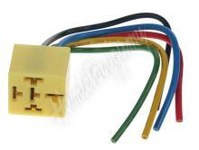 46026 Relé patice s kabely žlutá, 5-vývodů