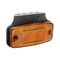 kf665ora Boční obrysové světlo LED, oranžový obdélník, ECE R3, R91
