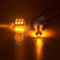 kf706-2 LED stroboskop oranžový 2ks