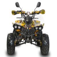 Dětská čtyřtaktní čtyřkolka ATV Warrior XXL 125ccm maskáč žlut 3 rych. poloaut.8ko