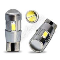 952006cb LED T10 bílá, 12V, 6LED/5630SMD s čočkou