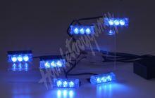 kf745-6blue PREDATOR LED do mřížky, 12V, modrý