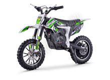 Elektrická motorka Minicross motors Jackal 500W 36V Baterie Lithium zelená