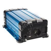 35psw612DR Sinusový měnič napětí z 12/230V, 600W / dálkové ovládání s displejem