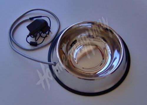 Vyhřívaná miska 15W pro zvířata (s pevným kabelem) 2,8 litru