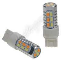 95242 LED T20 (7443) dual color, 12-24V, 22LED/5630SMD