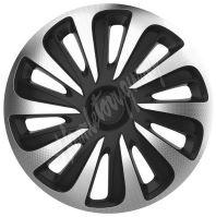"Kryty kol 14"" CALIBER Carbon (sada) silver/black"