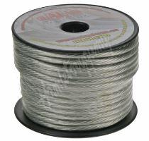 31162 Kabel 6 mm, stříbrně transparentní, 25 m bal