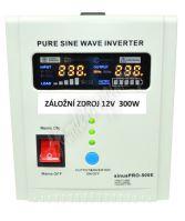 Záložní zdroj 12V 300W SinusPRO - 500PLUS 2A/5A/10A