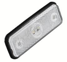 kf661E Přední obrysové světlo LED, bílý obdélník, ECE R91