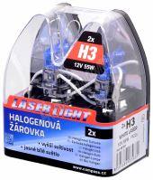 Žárovka 12V  H3  55W Pk22s WHITE LASER  2ks