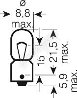 OS3893 OSRAM 12V T4W (BA9s) 4W standard (10ks)