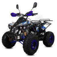 """Dětská čtyřtaktní čtyřkolka ATV Warrior DELUX 125ccm  modrá 3 rych. poloaut. 8"""" kola"""