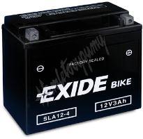 Motobaterie EXIDE BIKE Factory Sealed AGM12-4 (12V, 3Ah, 50A)