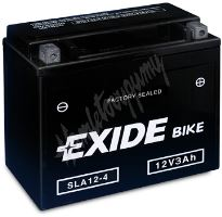 Motobaterie EXIDE BIKE Factory Sealed GEL12-19 (12V, 19Ah, 170A)