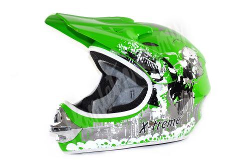 Dětská cross helma Xtreme - zelena