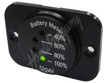 34542 LED indikátor baterie 12-24V včetně panelu