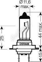 OS64215 OSRAM 24V H7 70W standard (1ks)