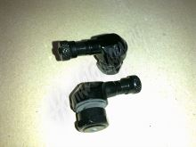Ventilek alu bezdušový zahnutý moto Černý 11,3 mm